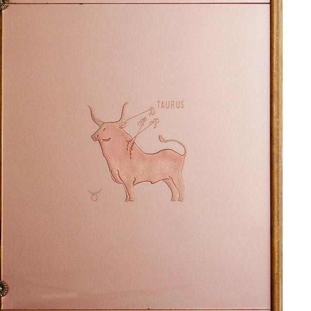 Pink Art Deco Decorative Panel With Console, Attributed to Fontana Arte - Italy 1930 For Sale - Image 8 of 13