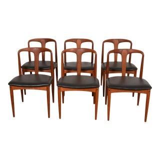 Set of 6 Johannes Andersen for Uldum Møbelfabrik Juliane Teak Dining Chairs For Sale