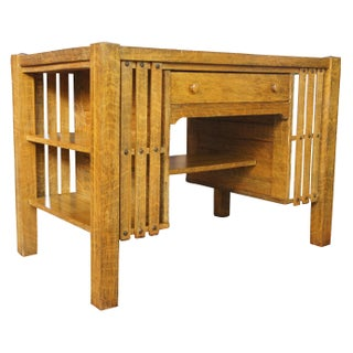 20th Century Mission Arts & Crafts Quartersawn Oak Library Table Preview