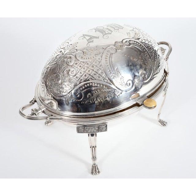 Vintage English Silver Plate Footed Tableware Server . For Sale - Image 4 of 9