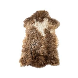 "Contemporary Long Wool Sheepskin Pelt/Handmade Rug - 2'2""x3'8"" For Sale"