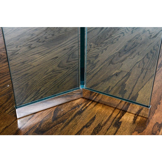 Metal 1970s Leon Rosen for Pace Collection Chrome & Glass Rectangular Dining Table For Sale - Image 7 of 10