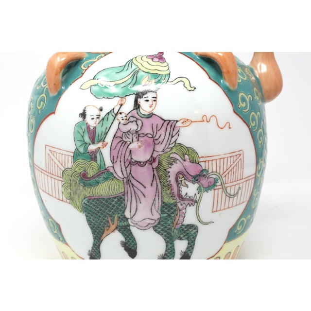 Vintage Chinese Decorative Lidded Water Jug For Sale - Image 9 of 13