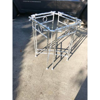 Giacometti-Style Silver Accent Table Preview