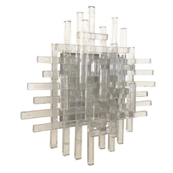 Poliarte Murano Glass Sconces by Poliarte For Sale - Image 4 of 5