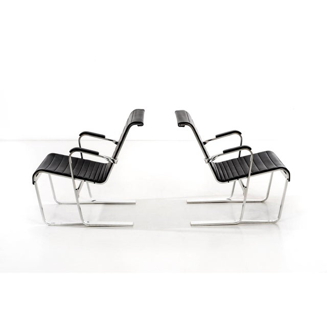Mid-Century Modern Pair of Marcel Breuer Lounge Chairs For Sale - Image 3 of 13