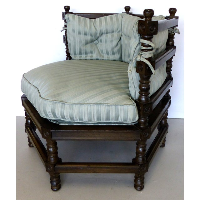 Traditional Hexagonal Club Chairs - A Pair - Image 6 of 8