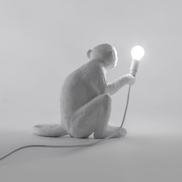 Seletti, Sitting Monkey Lamp, White, Marcantonio, 2016 For Sale - Image 9 of 11