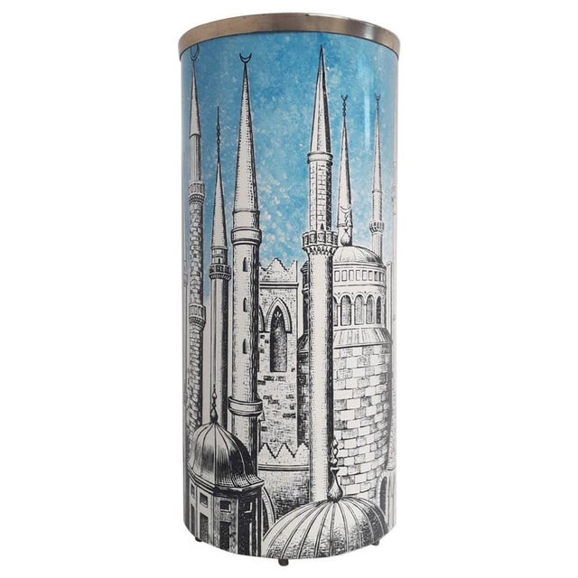 """Metal """"Minarets"""" Umbrella Stand by Fornasetti For Sale - Image 7 of 7"""