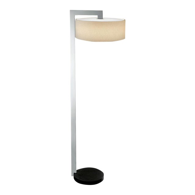 Chicago Lamp in Satin Black With Polished Chrome For Sale