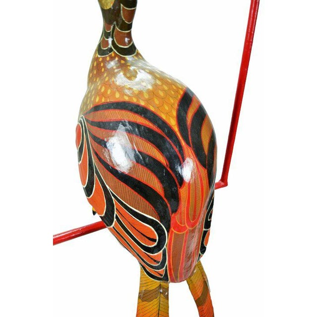 Vintage Sergio Bustamante Limited Edition Paper Mache Tropical Bird Sculpture For Sale In Chicago - Image 6 of 8