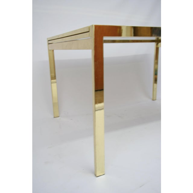 Dia Extending Brass Dining Table For Sale In Tampa - Image 6 of 7