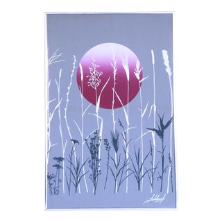 Marushka Style High Contrast Sunset Boho Modern Vaporwave Screen Print For Sale