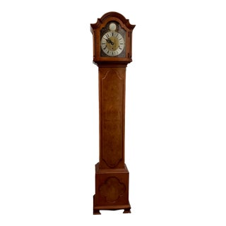 Vintage English Tall Case Clock by Elliott For Sale