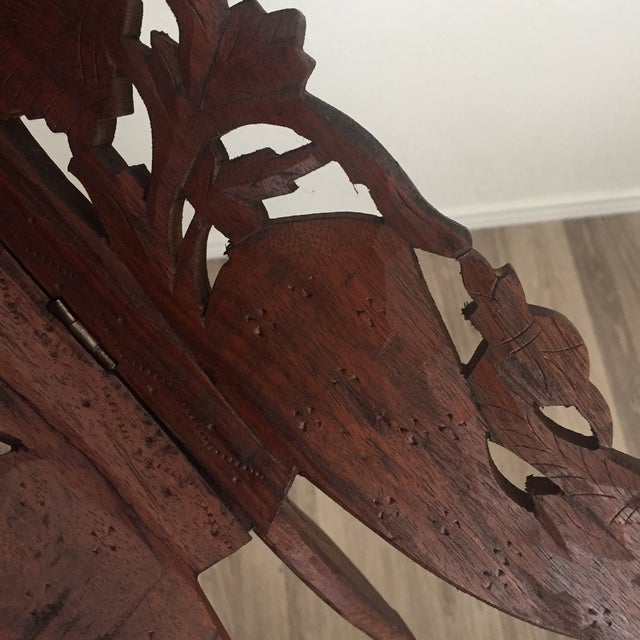 Floral Carved Chai Table - Image 9 of 9