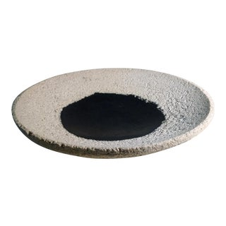 Contemporary Asian Modern Black and Grey Concrete Bowl