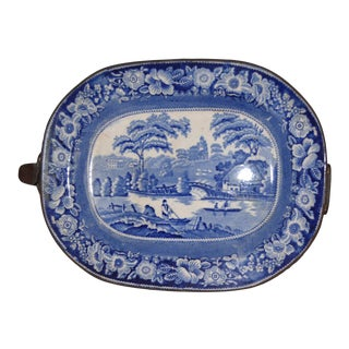 Staffordshire Warming Pan; Scene of Nuneham Country For Sale