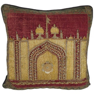 Ottoman Era Embroidered Pillow by Mary Jane McCarty For Sale