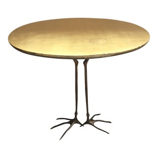 1970's Modern Brass Accent/Coffee Table For Sale