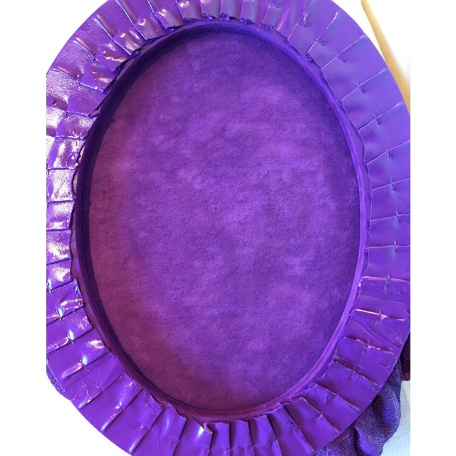 """Chloe Hedden """"Plum Folds"""" Mixed Media Wall Sculpture by Chloe Hedden For Sale - Image 4 of 9"""