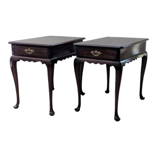 Vintage Queen Anne Side Tables - a Pair For Sale