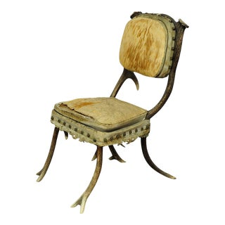 A Rare Antique Antler Chair Mid 19th Century For Sale