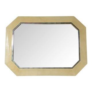 Karl Springer Goatskin Octagonal Mirror, USA For Sale