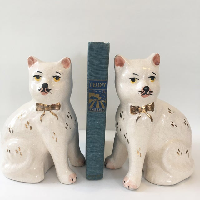Staffordshire Staffordshire Cat Figurine - A Pair For Sale - Image 4 of 7