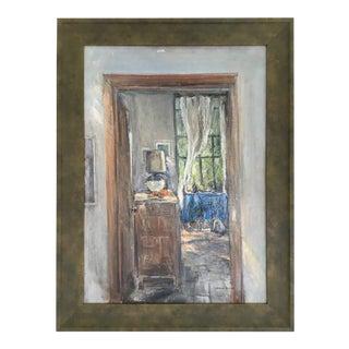 1990s Leonard Brooks Painting For Sale