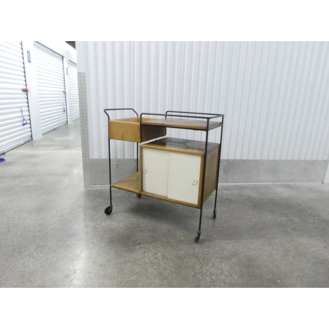 Mid Century Modern Arthur Umanoff for Raymor Bar Cart sold as found unrestored in original condition showing normal signs...