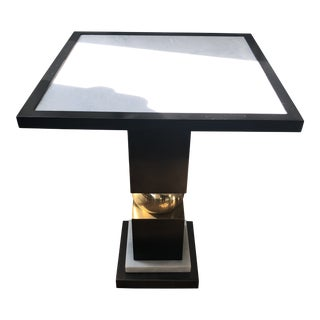 Bronze and Marble Side Table