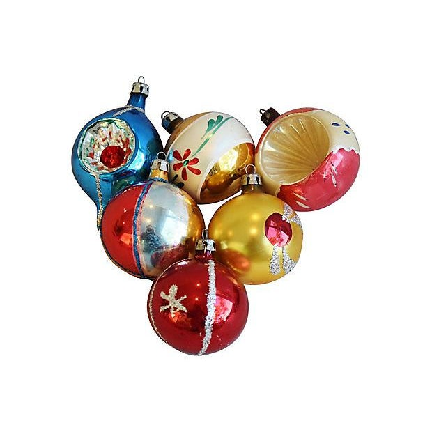 Mid Century Fancy Christmas Ornaments w/Box - Set of 12 - Image 4 of 7