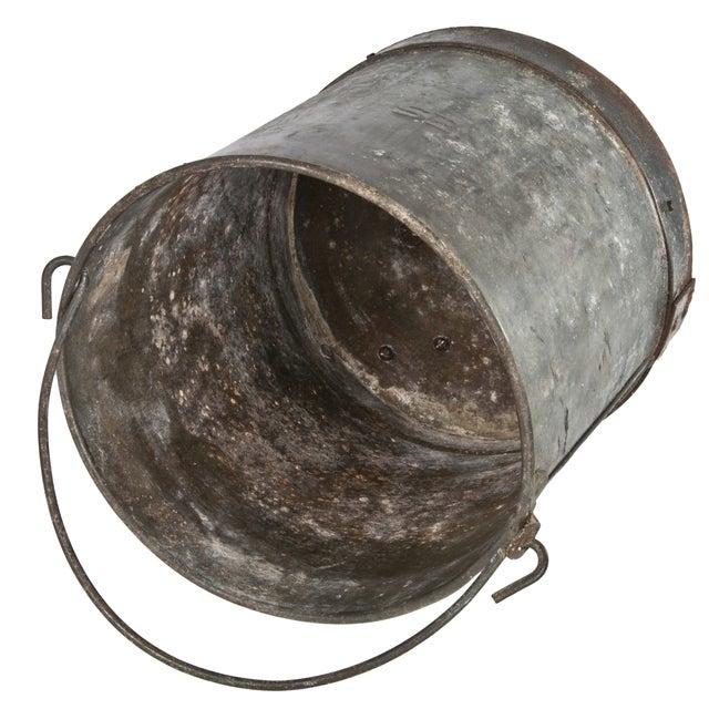 Vintage Metal Bucket For Sale - Image 4 of 4