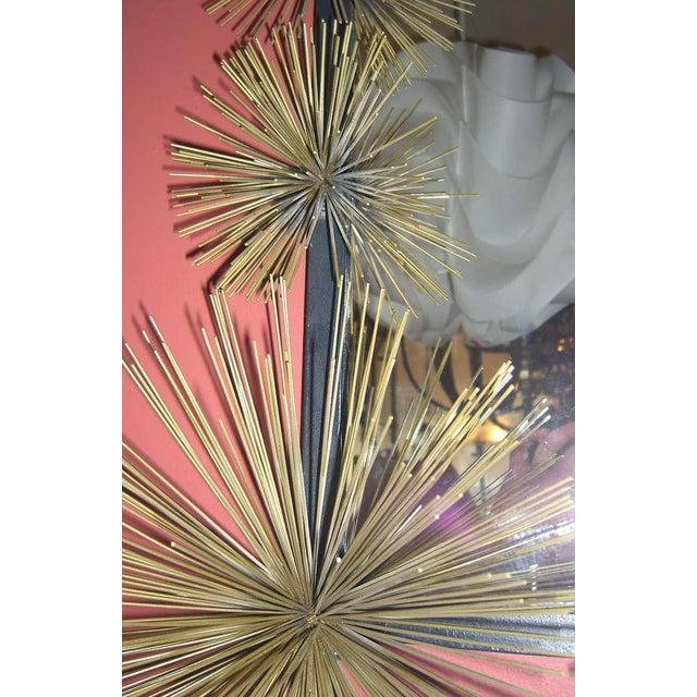 """French Handcrafted Metal """"Pom-Pom"""" Wall Mirror For Sale - Image 4 of 5"""