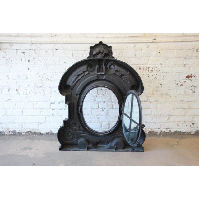19th Century Antique French Cast Iron Dormer For Sale - Image 10 of 12