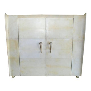French Art Deco Style Parchment Armoire For Sale