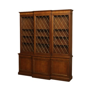 Baker Vintage Regency Style Bookcase Breakfront For Sale