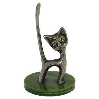 Mid-Cenutry Bakelite Cat Ring Holder