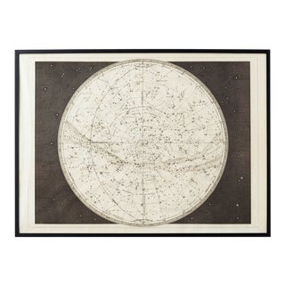 19th Century Celestial Map Framed Print For Sale