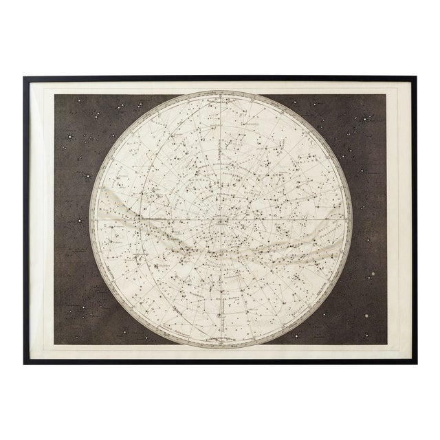 19th Century Celestial Map Framed Print For Sale
