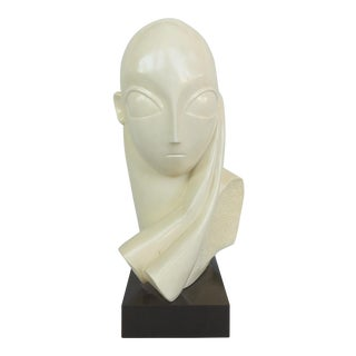 Brancusi Style Mid-Century Modern Austin Productions Composition Sculpture Dated 1964 For Sale