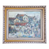 """Image of Mid-Century Abstract Expressionist Fauvist """"Favella Street Scene"""" Painting For Sale"""