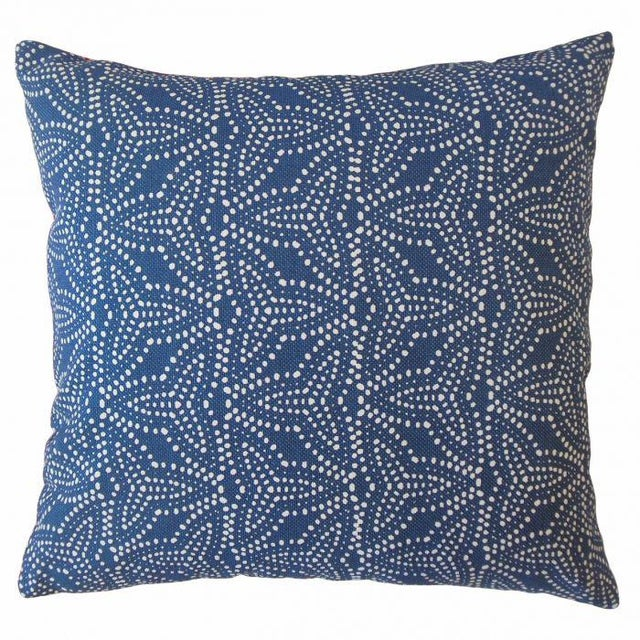 2020s Pair of Gimbya Blue Geometric Pillows For Sale - Image 5 of 5