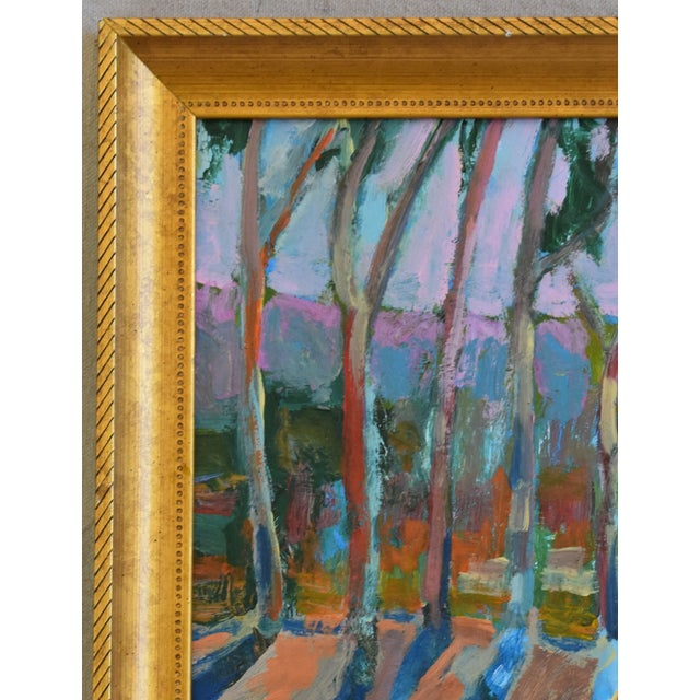 Abstract Juan Pepe Guzman Santa Barbara Abstract Landscape Oil Painting For Sale - Image 3 of 9