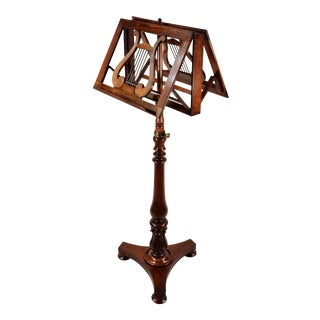 1860 English Walnut Duet Music Stand For Sale