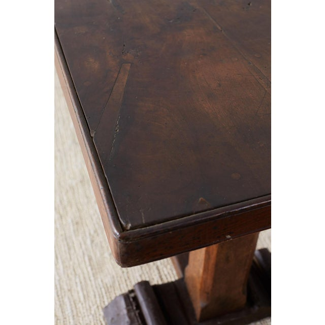 Rustic Italian Baroque Refectory Trestle Table For Sale - Image 9 of 13
