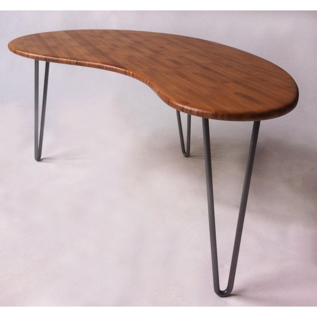Mid-Century Style Kidney Bean Bamboo Coffee Table - Image 5 of 5