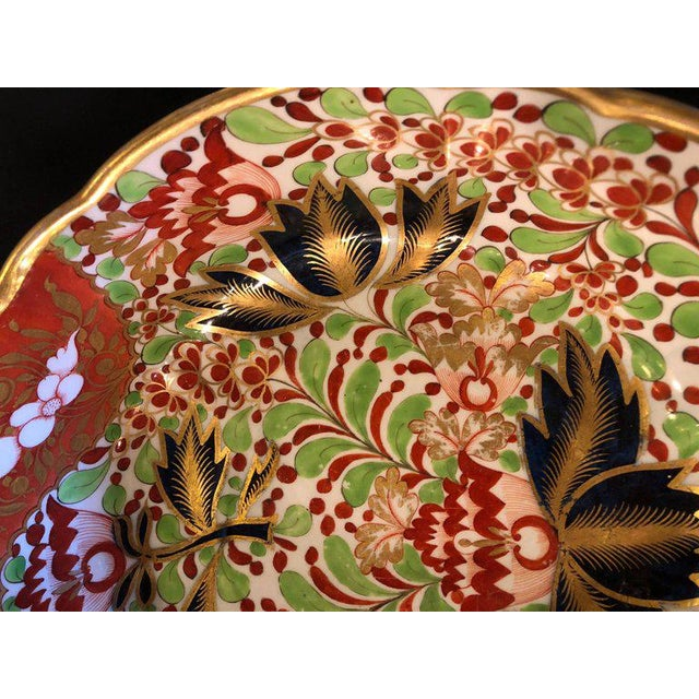 English Worcester Porcelain Imari 19th Century Continental Circular Bowl For Sale - Image 4 of 11