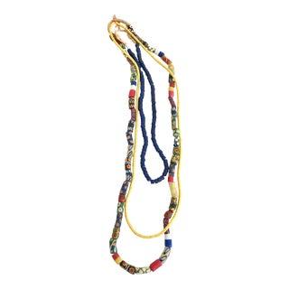 African Handmade Trade Beads - Set of 3