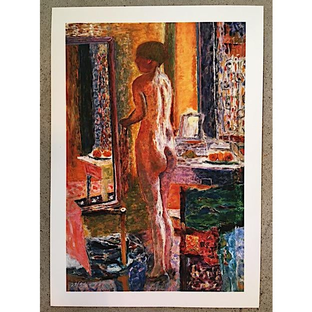 Rare Limited Edition Pierre Bonnard Print - Nude at Mirror #28/95. Numbered in the bottom left corner. From a series of...